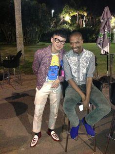 Chu and Thula at Durban Fashion Fair.