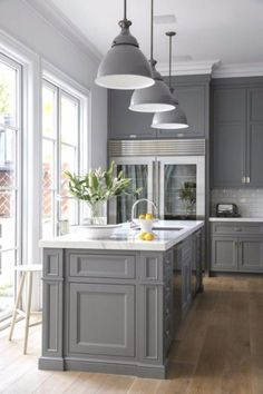 Grey and White Kitchen Decor. 20 Grey and White Kitchen Decor. 28 Luxury White Kitchen Decor Ideas Home Design Ideas Best Kitchen Cabinets, Farmhouse Kitchen Cabinets, Kitchen Cabinet Colors, Modern Farmhouse Kitchens, Painting Kitchen Cabinets, Kitchen Countertops, Floors Kitchen, Kitchen Colors, Kitchen Sinks
