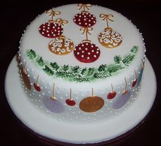 iced christmas cakes designs | Christmas cake 2010 | Flickr - Photo Sharing!