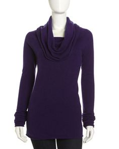 Cashmere Cowl-Neck Tunic, Constellation by Neiman Marcus at Neiman Marcus Last Call.