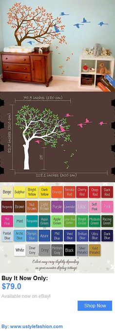Wall Decals And Vinyl Art: Baby Nursery Tree Wall Decal Swans Decal Sticker Wall Mural Children Room Kr067 BUY IT NOW ONLY: $79.0 #ustylefashionWallDecalsAndVinylArt OR #ustylefashion