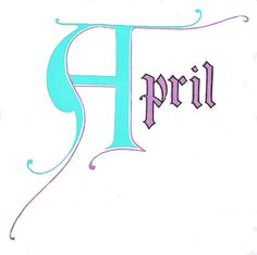 April graphic PJH Designs One of A Kind Vintage & Antique Furniture & Home Decor: Free Graphics Wednesday #50