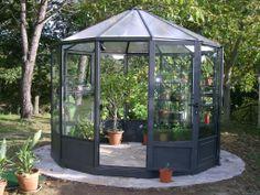 Glaspavillon mit Durchmesser 250 cm bis 900 cm Commercial Greenhouse, Backyard Greenhouse, First Home, Garden Design, Diys, Greenhouses, Outdoors, Gardening, Hair
