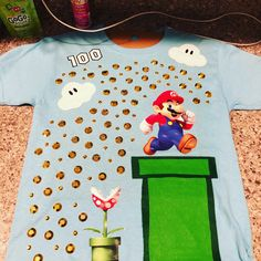 day of school shirt Mario brothers 100 Day Of School Project, 100 Days Of School, School Projects, Kindergarten Fun, Preschool, 100 Day Shirt Ideas, 100days Of School Shirt, Dress Up Day, Mario Brothers
