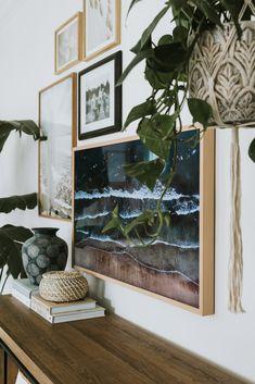 Living Room Decor Inspiration, Yellow Home Decor, Tv In Bedroom, Framed Tv, Love Your Home, Living Room Tv, Frames On Wall, New Art, Family Room
