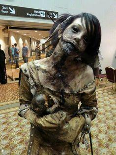 Scary Halloween Costumes For Men And Women 69 Creepy Makeup, Horror Makeup, Zombie Makeup, Fx Makeup, Demon Makeup, Halloween Zombie, Halloween Cosplay, Halloween Costumes, Zombie Cosplay