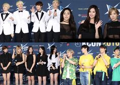 Watch BTS, TTS, Twice, Astro, Eric Nam, and Davichi walk the red ...