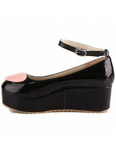 Embellished Ankle Strap Platform Shoes
