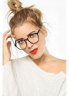 Oversized Clear Glasses | Grafton Rounded Wayfarer Clear Glasses | BleuDame.com