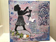Mixed Media Canvas, Diy Projects, Earth, New Media Art, Handyman Projects, Handmade Crafts, Diy Crafts, Mother Goddess, World