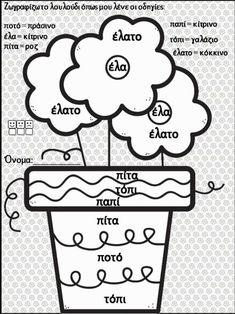 Πού είναι ο Άρης; 12 μαθήματα / 80 φύλλα εργασίας για την Πρώτη Δημοτ… Graphic Organizers, Worksheets, Organization, Education, School, Getting Organized, Organisation, Tejidos, Literacy Centers