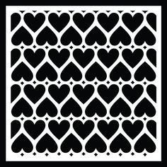 free Heart Background cut file #Silhouette #Cricut