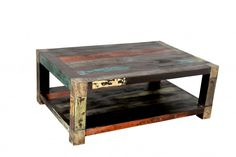 Nautical but nice! Coffee table made from reclaimed fishing boat timber
