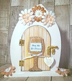 Door Crafts, Crafts To Do, Hobbies And Crafts, Diy Gifts, Handmade Gifts, Heart Projects, Fairy Crafts, Fairy Homes, Create And Craft