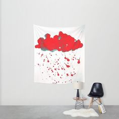 "Check out Society6 post by ANoelleJay (@anoellejay) titled ""Red Red Clouds""  @society6"