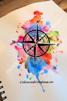 Coloured Compass Logo #ColouredCompass #Watercolour #Painting #Art