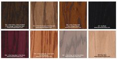 General Finishes Pro Floor Stain® Color Swatch / Chart for Hardwood Flooring Types Of Wood Flooring, Hardwood Floors, Floor Stain Colors, General Finishes, Color Swatches, Pure White, Pure Products, Let It Be, Minneapolis