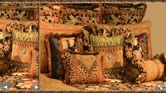 Tuscan Style Luxury High End Bedding and Accent Pillows by Reilly-Chance Collection