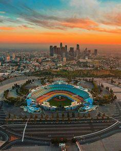 Dodge Stadium Los Angeles California by Jasper de Jesus | California Feelings