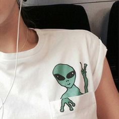 Aliens fashion printed short sleeve T-shirt