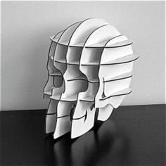 Accessories: Flat-Pack Skull by Cardboard Safari - Remodelista Cardboard Furniture, Diy Cardboard, Safari, Recycled Decor, Cardboard Sculpture, Art Deco, 3d Puzzles, Unique Gifts, Recycling