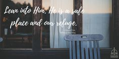 """""""Lean into Him. He is our safe place and our refuge."""" """"Without This Ring: Surviving Divorce"""" #divorce #book #faith #recovery #hope @concordiapub"""