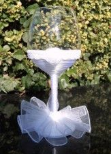 Svadobné poháre - nevesta - víno