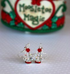 Christmas Tree Earrings Christmas Earrings by DRaeDesigns on Etsy
