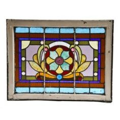 I'd like to incorporate stained glass in my craftsman-style home...do I see a window above my front door?...