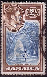 Jamaica 1938 SG 131 Bamboo Walk Fine Used SG131 Scott 126 Other Jamaican Stamps for sale Here