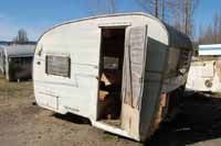 Vintage trailer storage yards, salvage yards and junk yards with acres of old trailers