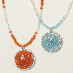 Tutorial for wire-wrapped beaded pendant - easy project  #handmade #jewelry #DIY