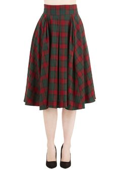 Spirited Swing Skirt. Embrace your cheerful state of mind by slipping into this buoyantly pleated skirt!  #modcloth