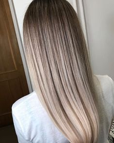 Pretty Ombre Balayage Hairstyle For Long Hair 2019 Long Hair Color - pretty hairstyles color pretty hairstyles korean Blonde Lowlights, Blonde Balayage, Balayage Hairstyle, Silver Blonde Hair, Bleach Blonde Hair, Ombre Hair, Blonde Roots, Bleached Hair, Pretty Hairstyles