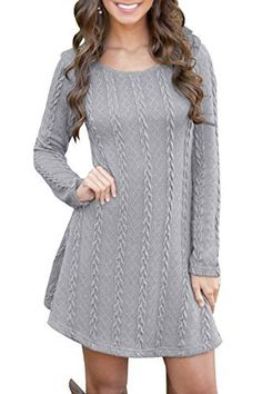 53dc3afd6d5d YMING Women s Elegant  pullover Knit Long Sleeve Casual Sweater Dress   sweaters Abito Pantaloni