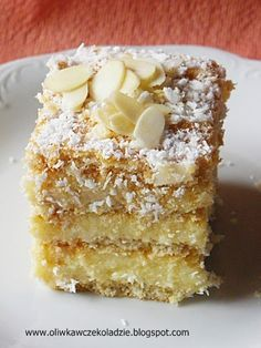 Polish Desserts, Polish Recipes, Sweet Recipes, Cake Recipes, Angel Cake, Baking Tips, Keto Snacks, Vanilla Cake, Bakery