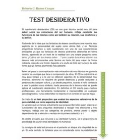 test desiderativo gratis