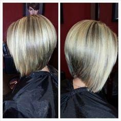 Blonde Hair. Short Hair. Bob Hair Styles.