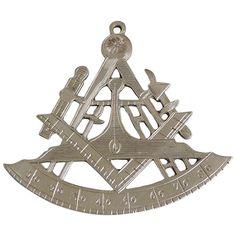 Rare 18th Century Masonic Silver Collar Jewel
