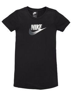 Nike Girls Nsw Futura Future Femme T-Shirt Dress - Black Athleisure Fashion, Nikes Girl, Girls Tees, Baby Wearing, Shirt Dress, T Shirt, Black Nikes, Dress Black, Girl Outfits
