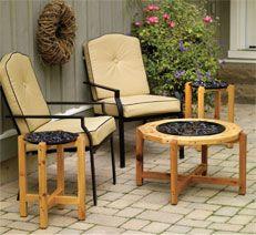Ah! E se falando em madeira...: mesas redondas de centro, PDF no blog