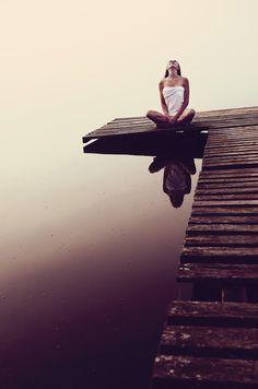 yoga, lake