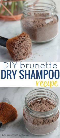 Why buy dry shampoo when it's so cheap and easy to make this DIY brunette dry shampoo recipe. You only need two ingredients to get started.