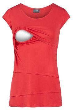 1529761eaf8a Milk Nursingwear Asymmetrical Tiered Nursing Top at Amazon Women s Clothing  store
