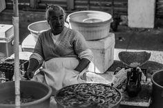 Shrimp seller backstreets of Mazatlan.