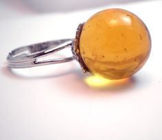 Ring  Lost your Marbles  Translucent Yellow  by TheApple on Etsy, $12.00
