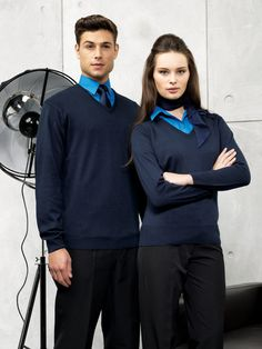 2ee31d5bdde Our cotton rich PR694 and PR696 V neck knitted sweaters are the perfect  addition to any