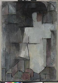 Piet Mondriaan, het grote naakt, 1912 hoogte 140 cm breedte 98 cm olieverf op doek