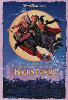 """""""Hocus Pocus"""" - 1993 American comedy fantasy film directed by Kenny Ortega. It stars Bette Midler, Sarah Jessica Parker and Kathy Najimy as a family of witches, known as the Sanderson Sisters, who are Hocus Pocus 1993, Hocus Pocus Movie, Bette Midler, Walt Disney Pictures, Love Movie, Movie Tv, Movies Showing, Movies And Tv Shows, Disney Films"""