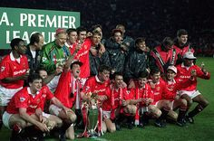 Manchester United's first league title in 26 years was celebrated at Old Trafford as Blackburn were defeated 3-1